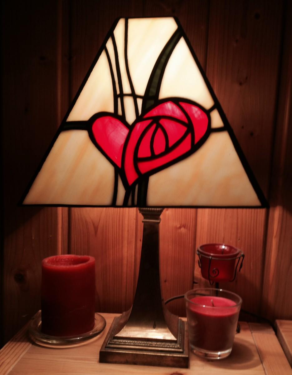 Valentin lámpa - Tiffany technika